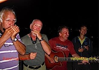 un apéritif géant a porto santo improvisé avec 6 musiciens