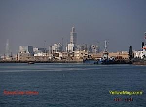 l'arrivée au port interdit de  Casablanca