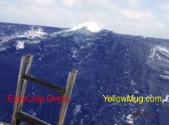 Les déferlantes gentilles mais sur des vagues de 5 mètres !