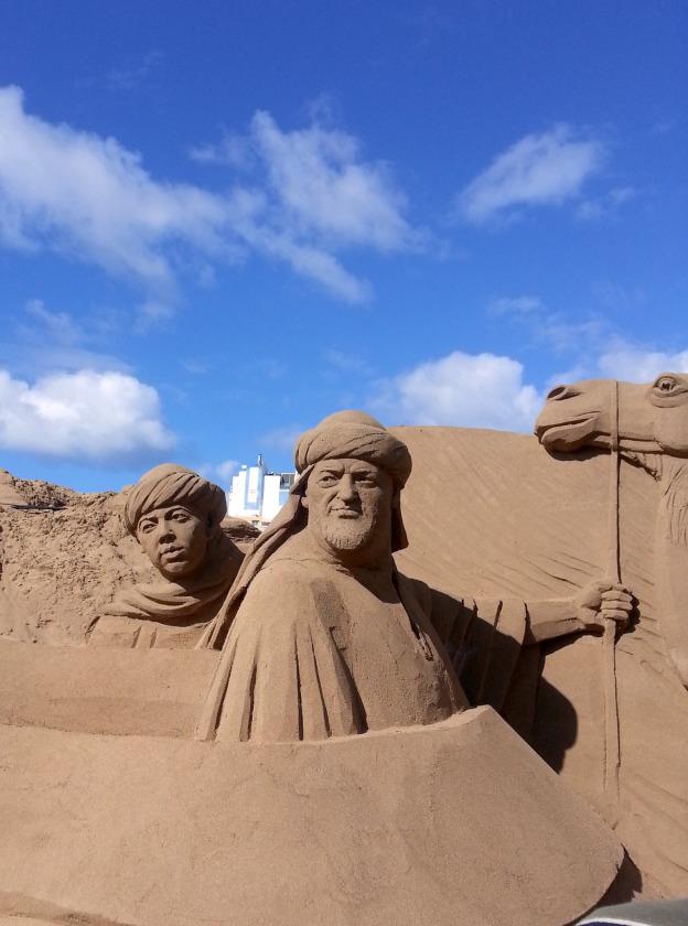 Magnifique Concours de sculpture sur le sable au nord de Las Palmas