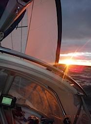 –DEPART POUR LE GRAND SAUT DE L'ATLANTIQUE LE 11 02 VERS TOBAGO 2300 miles vent arrière sous trinquette jumelles tangonnées