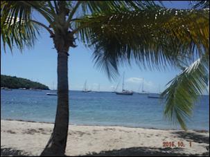 Les magnifiques anses d'Arlet et le rocher du diamant au sud de la Martinique