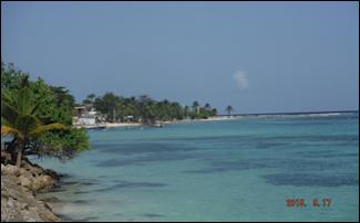 Dernier paysage de la Guadeloupe avant de retourner aux SAINTES