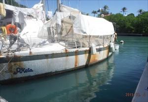 bateau poubelle au marin