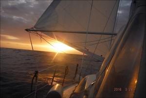 2016-03-28 coucher de soleil en route vers la RD
